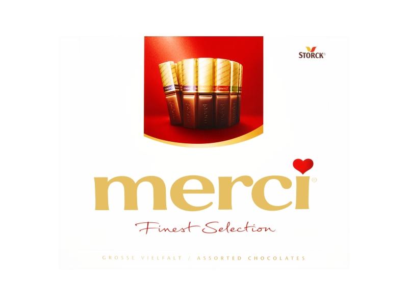 Storck merci 8 druhů vybraných čokoládových specialit 250g