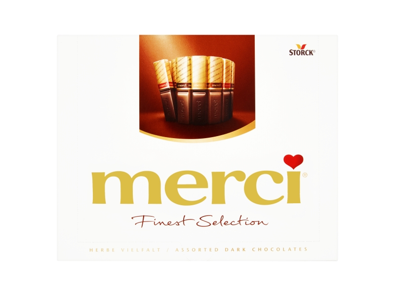 Storck merci 4 druhy hořkých čokoládových specialit 250g