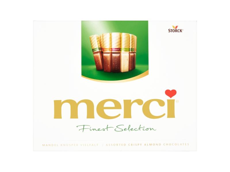 Storck merci 4 druhy čokoládových specialit s mandlemi 250g