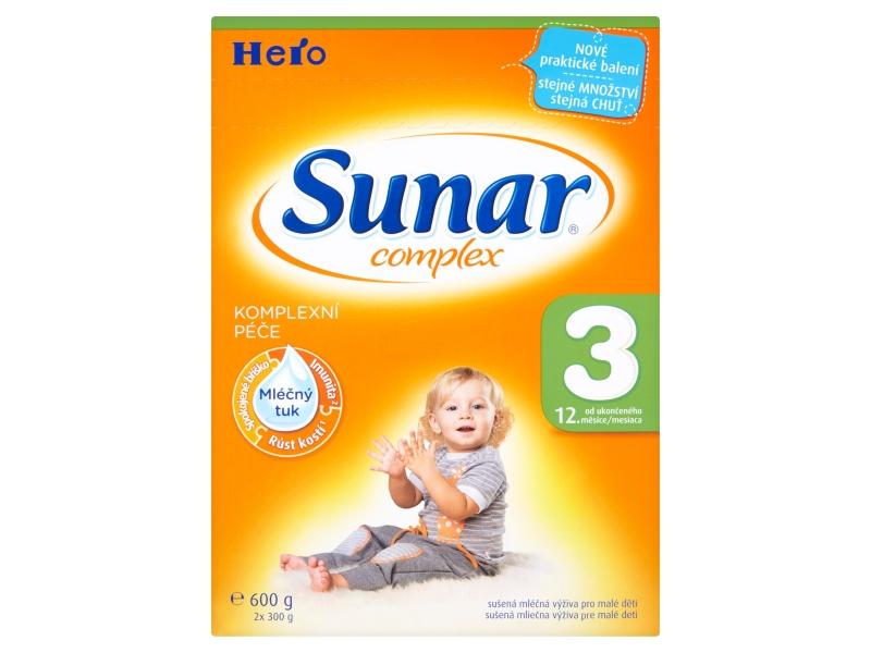 Sunar 3 Complex kojenecká výživa mléčná 600g
