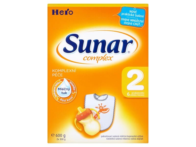 Sunar Complex 2 pokračovací sušená mléčná kojenecká výživa 600g