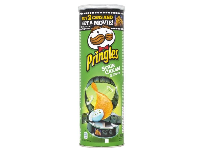 Pringles Bramborové lupínky cibule a smetana 165g