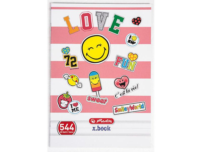 Sešit 544 A5 40 listů Smiley World linkovaný 1ks