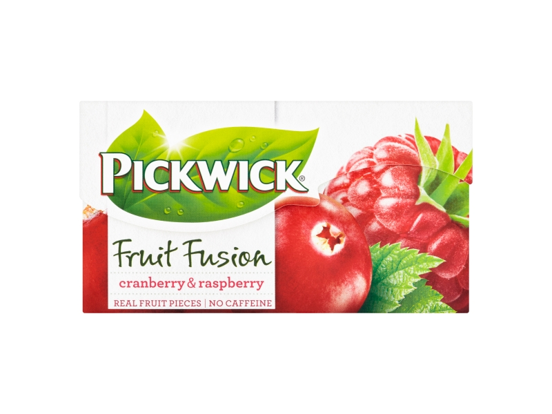 Pickwick Fruit Fusion Cranberry & Raspberry, 20 x 2g
