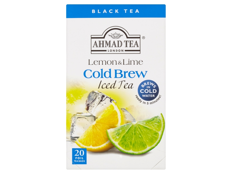 Ahmad Tea Cold Brew Lemon & Lime Černý čaj, 20x2g