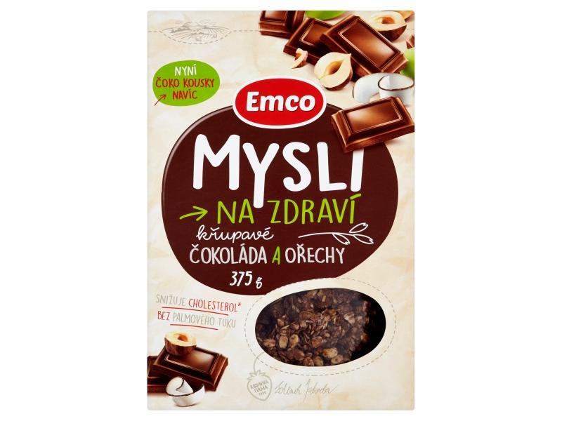 Emco Mysli na Zdraví Čokoláda a ořechy křupavé mysli 375g