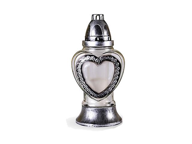 Hřbitovní lampa motiv srdce 1ks