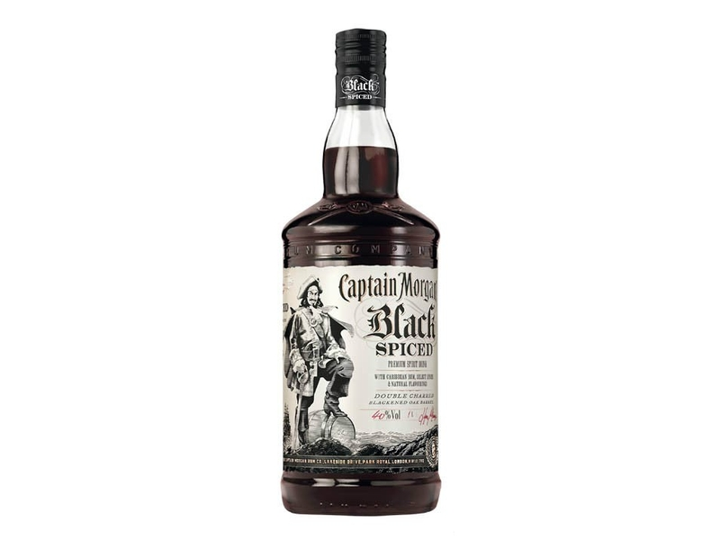 Captain Morgan Black Spiced Rum 40% 1l
