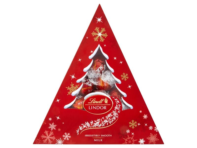 Lindt Lindor Vánoční stromek pralinky mléčné 125g