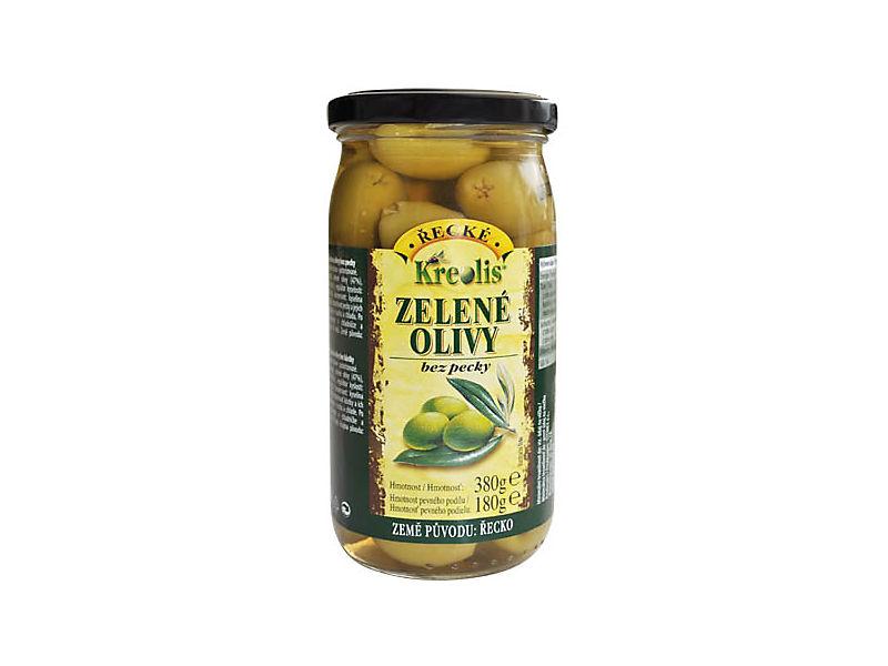 Kreolis Zelené olivy bez pecky 380g
