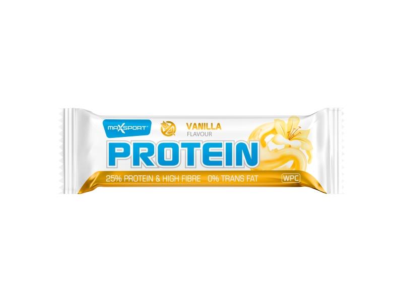 MaxSport Proteinová tyčinka v bílé polevě s příchutí vanilka 60g