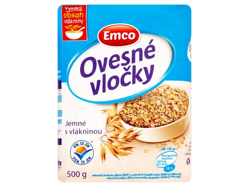 Emco Ovesné vločky jemné s vlákninou 500g