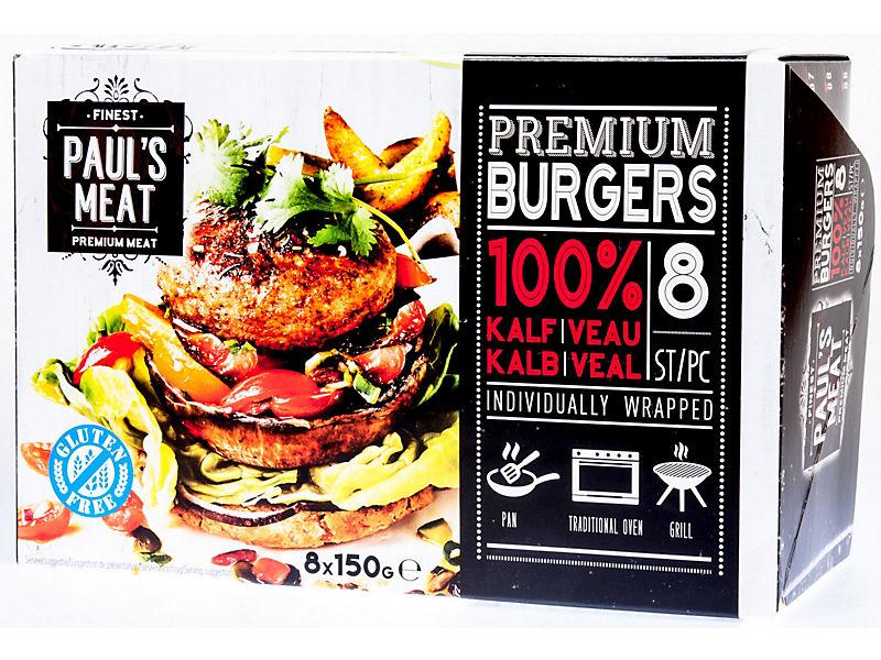Paul´s Meat Telecí hamburger mraž. 8x150g