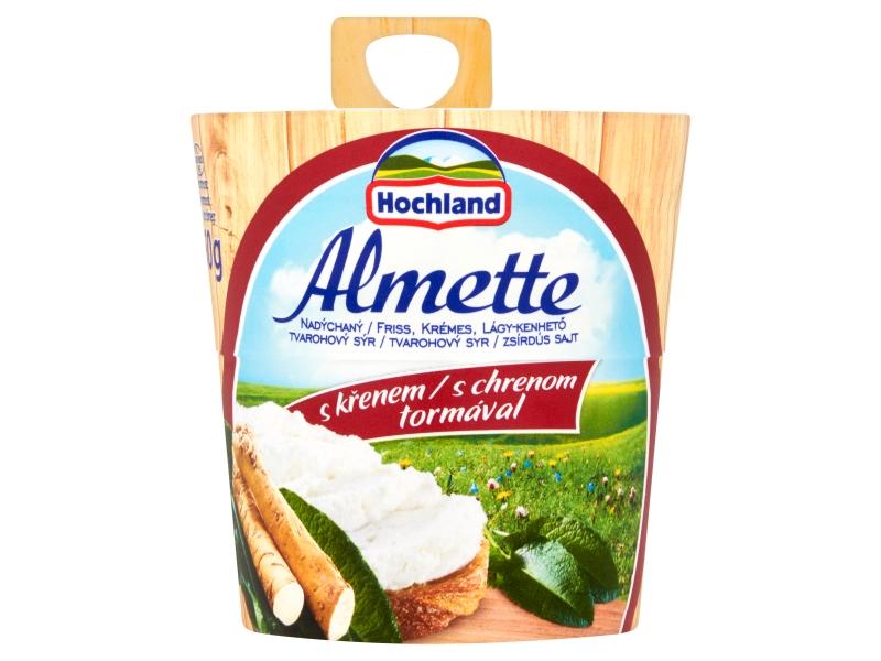 Hochland Almette Nadýchaný tvarohový sýr s křenem 150g