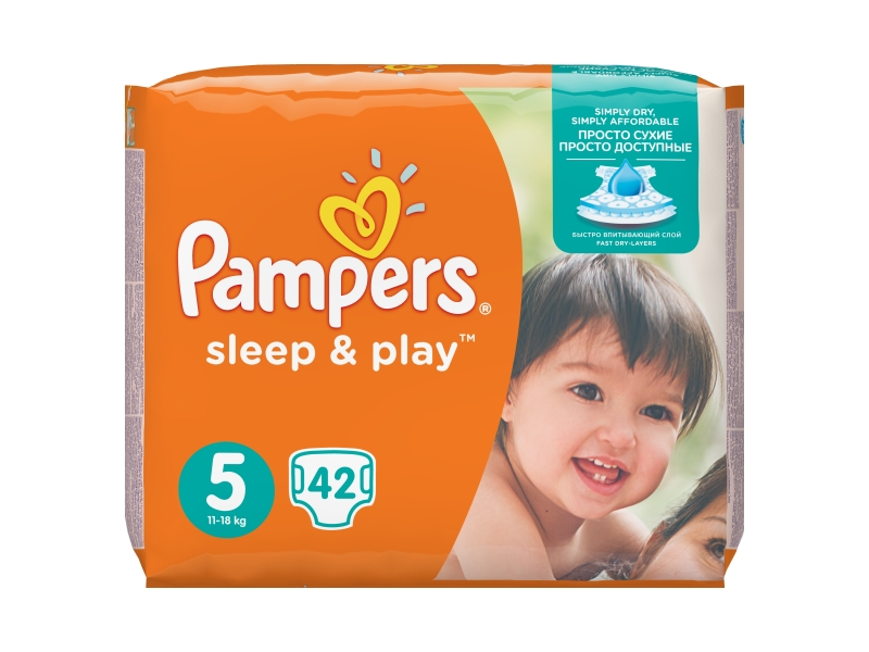 Pampers Sleep&Play Pleny 5 Junior 42ks