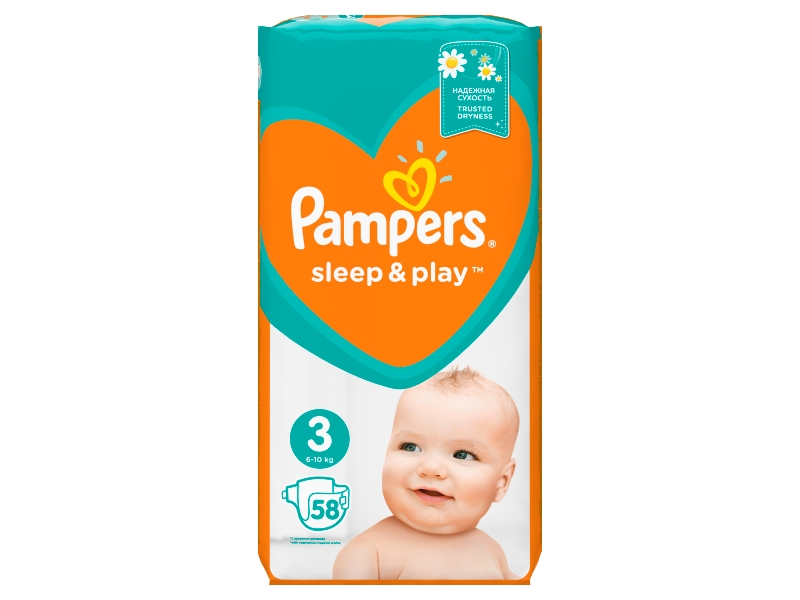 Pampers Sleep&Play Pleny 3 Midi 58ks