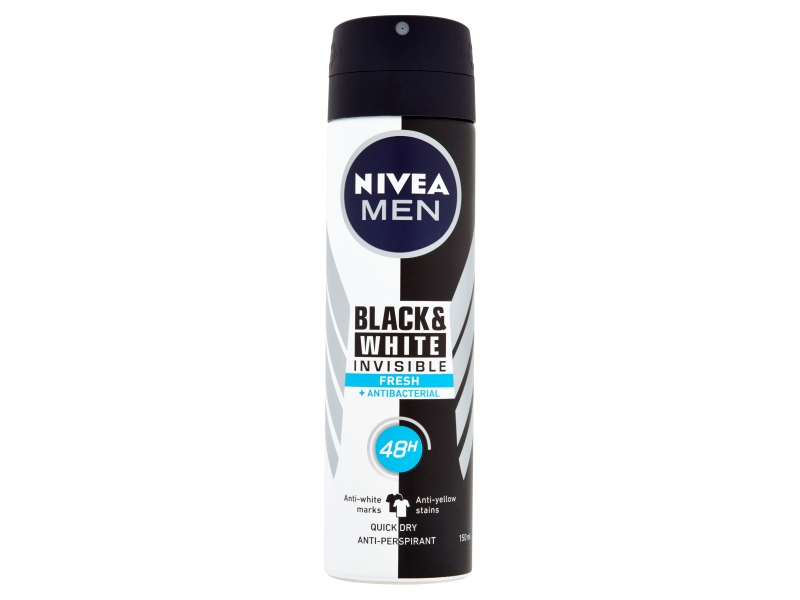 Nivea Men Black & White Invisible Fresh Sprej antiperspirant 150ml