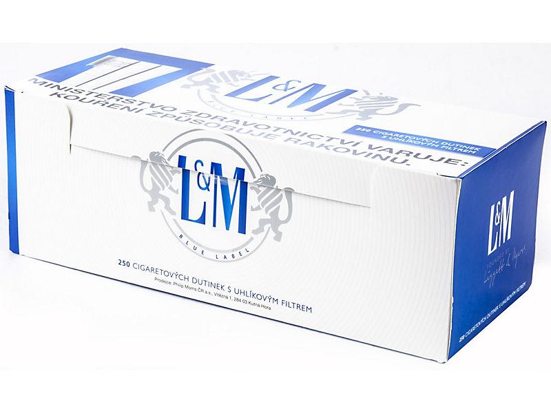 L&M Blue Cigaretové dutinky s uhlíkovým filtrem 250ks