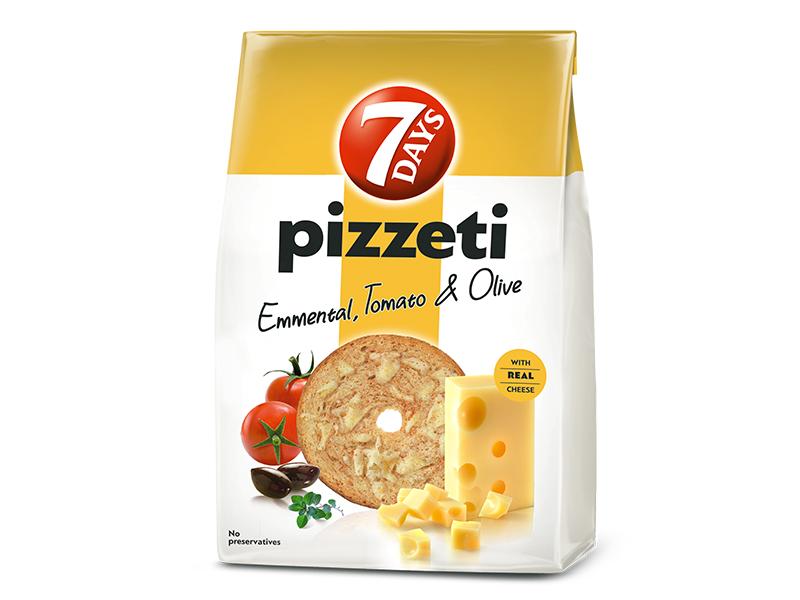7Days Pizzeti se sýrem, rajčaty a olivami 80g
