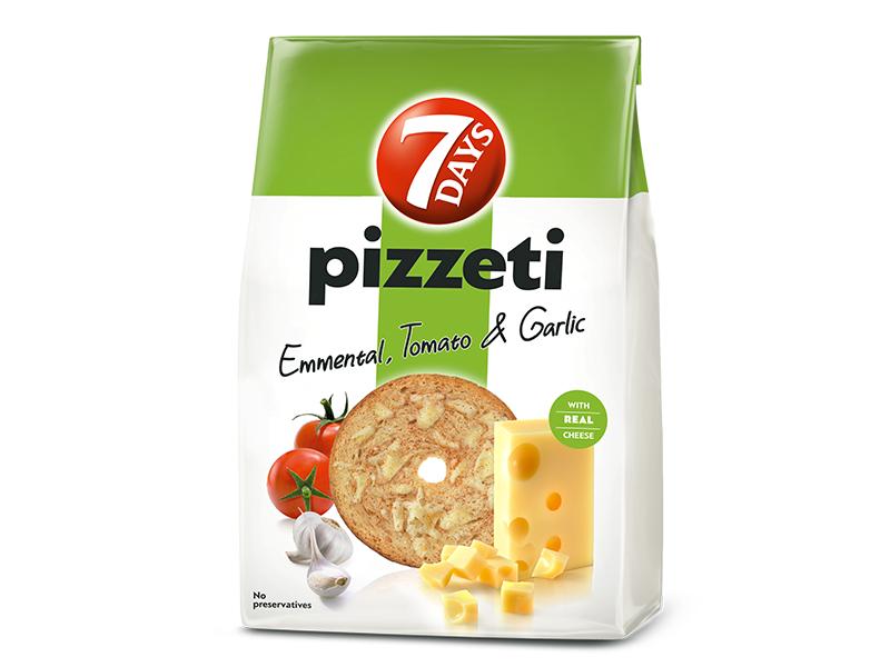 7Days Pizzeti se sýrem, rajčaty a česnekem 80g