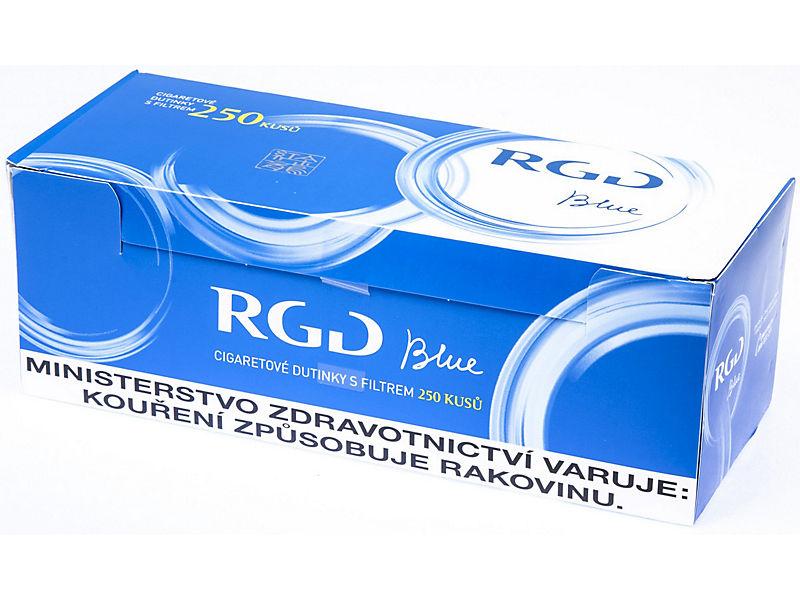 RGD Blue Cigaretové dutinky s filtrem 250ks