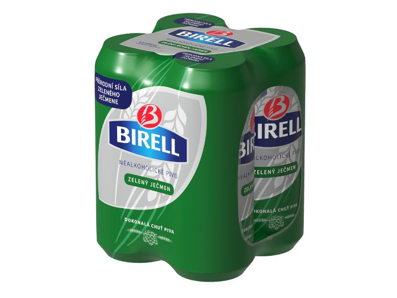 Birell Zelený ječmen nealko pivo 4x500ml plech