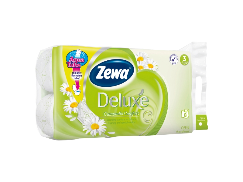 Zewa Deluxe Camomile Toaletní papír 3-vrstvý 8ks