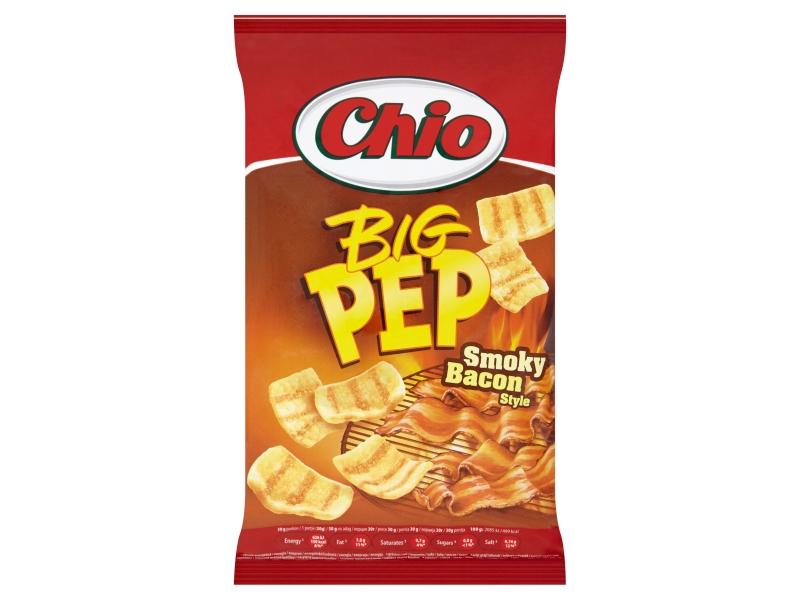 Chio Big Pep Snack s příchutí uzené slaniny 65g