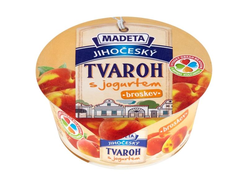 Madeta Jihočeský tvaroh s jogurtem broskev 135g