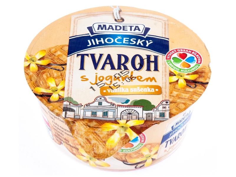 Madeta Jihočeský tvaroh s jogurtem vanilka - sušenka 135g