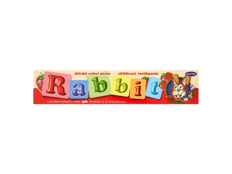 Rabbit Dětská zubní pasta s příchutí jahod a máty 45g