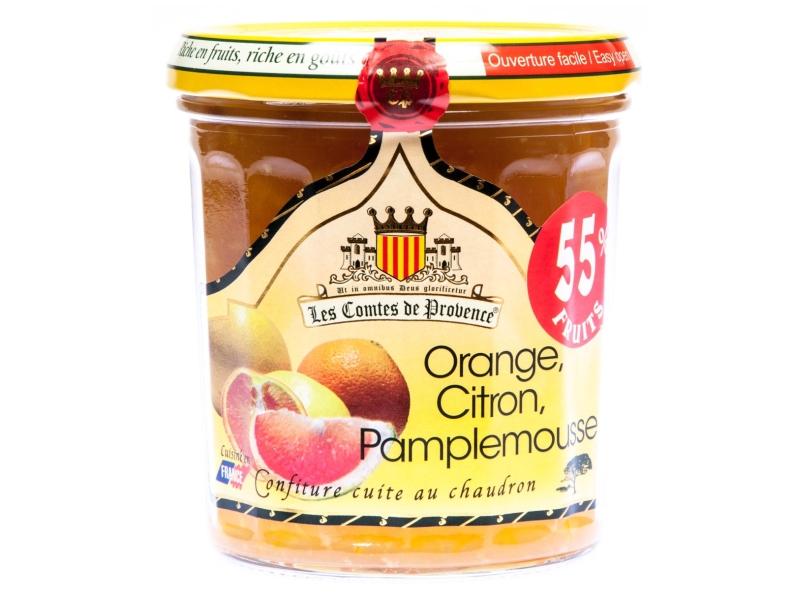 Les Comtes de Provence Džem Pomeranč, citron, grep 340g