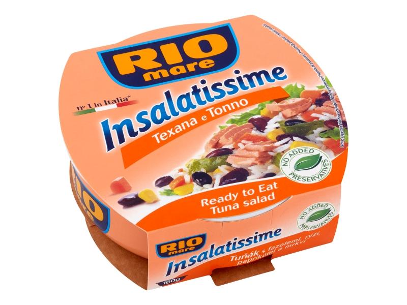 Rio Mare Insalatissime Tuňák s fazolemi, rýží, paprikami a mrkví 160g