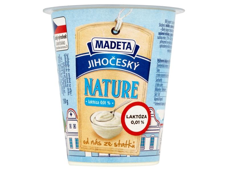Madeta Jihočeský nature bílý jogurt s nízkým obsahem laktózy 150g