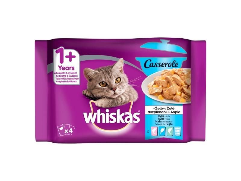 Whiskas Casserole rybí výběr v želé, 4 x 85g