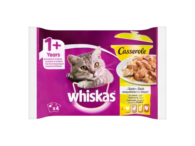 Whiskas Casserole drůbeží výběr v želé, 4 x 85g