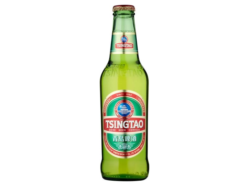 Tsingtao Čínské pivo světlý ležák 11% 330ml, sklo