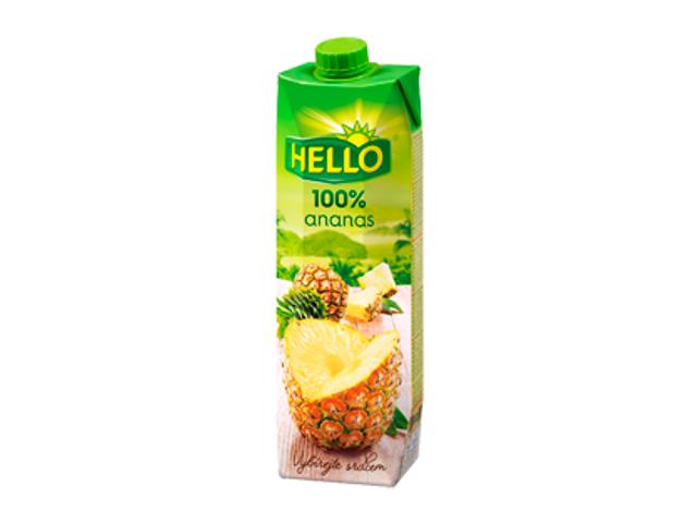 Hello Ananas 100% 1l