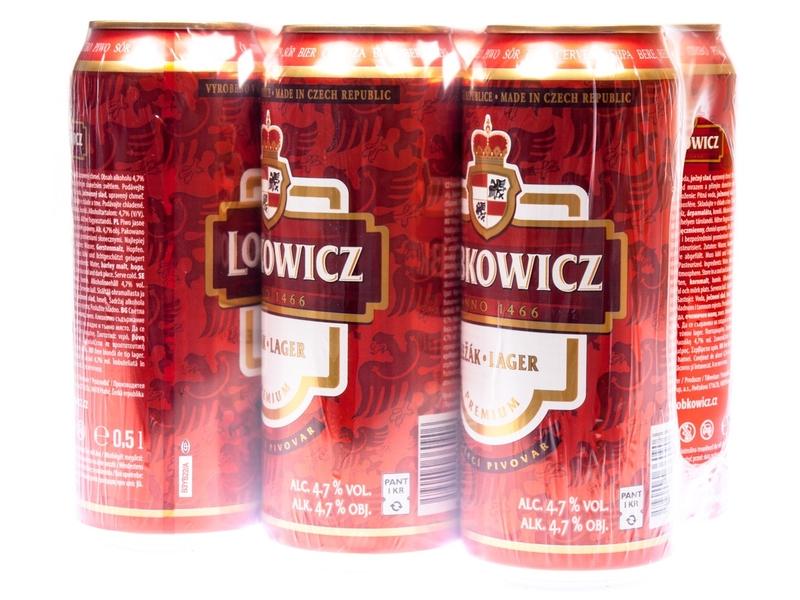Lobkowicz Premium Pivo světlý ležák 6x500ml, plech