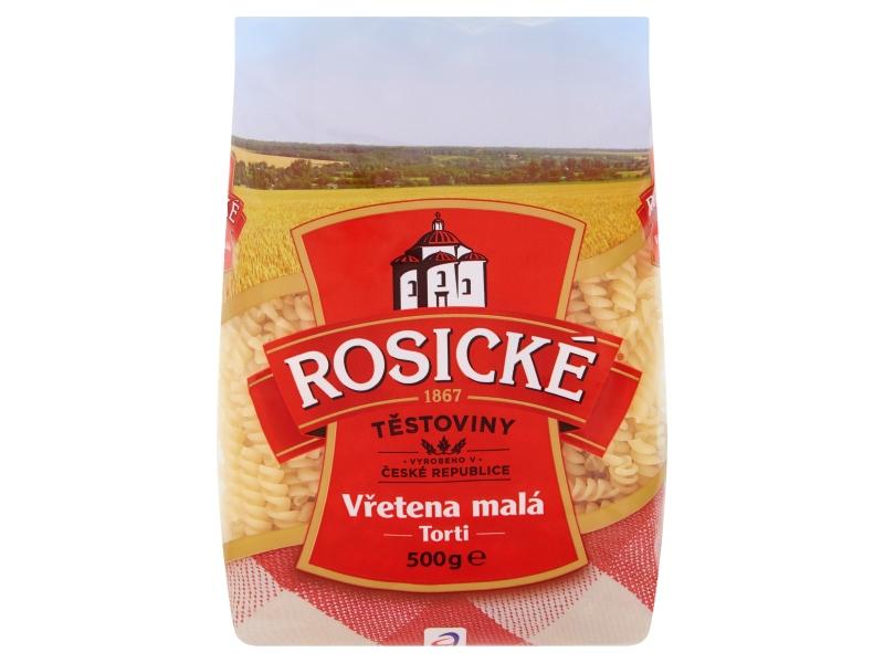 Rosické Těstoviny Torti vřetena malá bezvaječná 500g