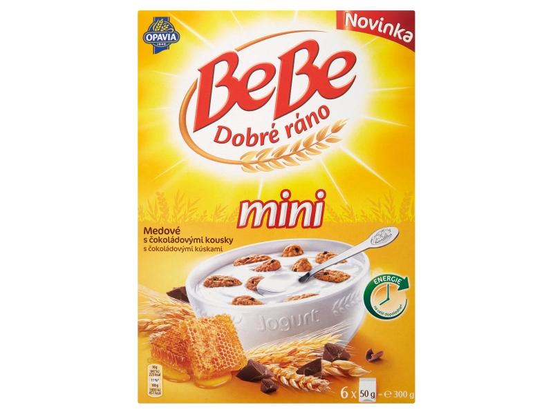 Opavia Bebe Dobré ráno Mini medové s čokoládovými kousky 6x50g