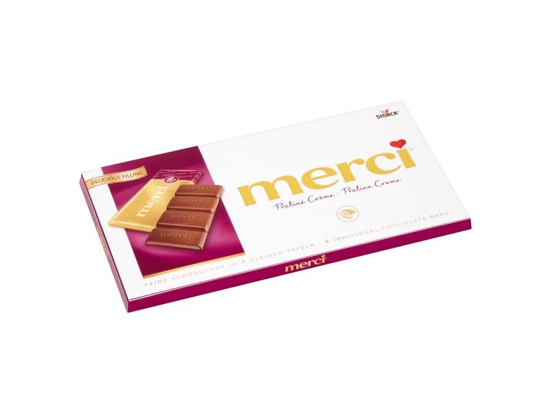Storck merci Mléčná čokoláda plněná pralinkovou náplní 108g