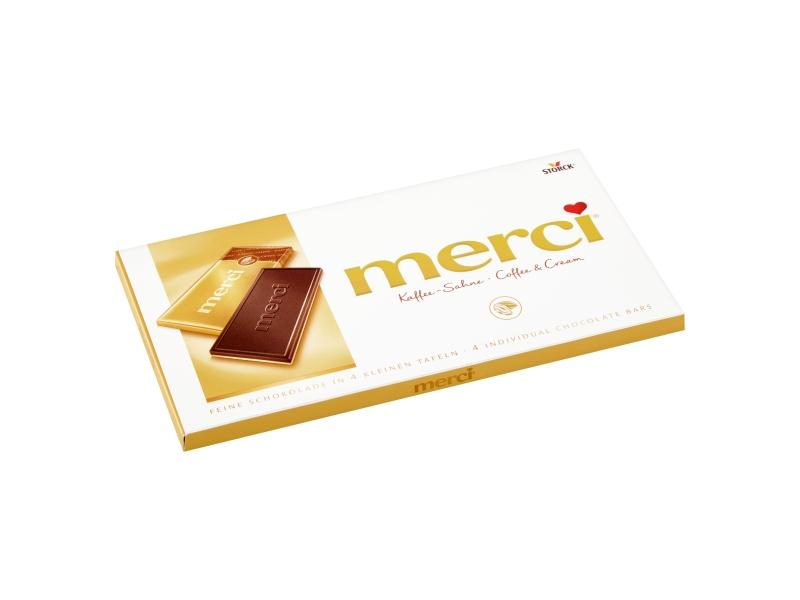 Storck merci Čokoláda s kávovou příchutí na bílé čokoládě 100g