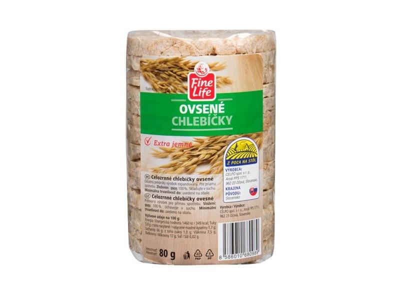 Fine Life Ovesné chlebíčky 100% natural celozrnné 80g
