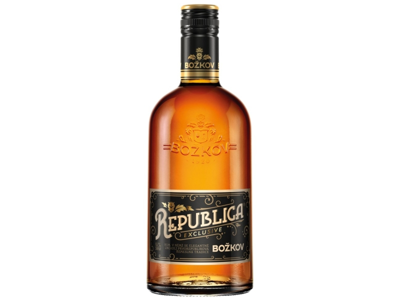 Božkov Republica Exclusive Rum 38%, 700ml
