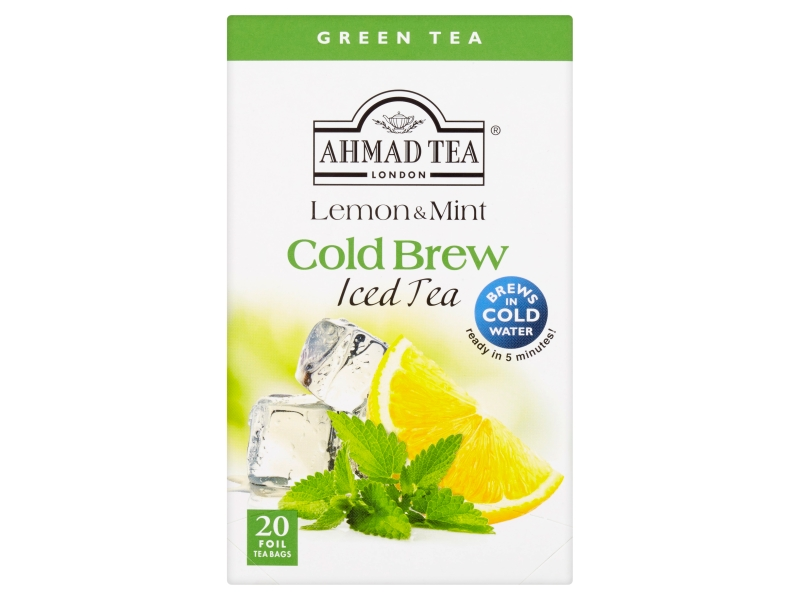 Ahmad Tea Cold Brew Lemon & Mint Zelený čaj, 20x2g