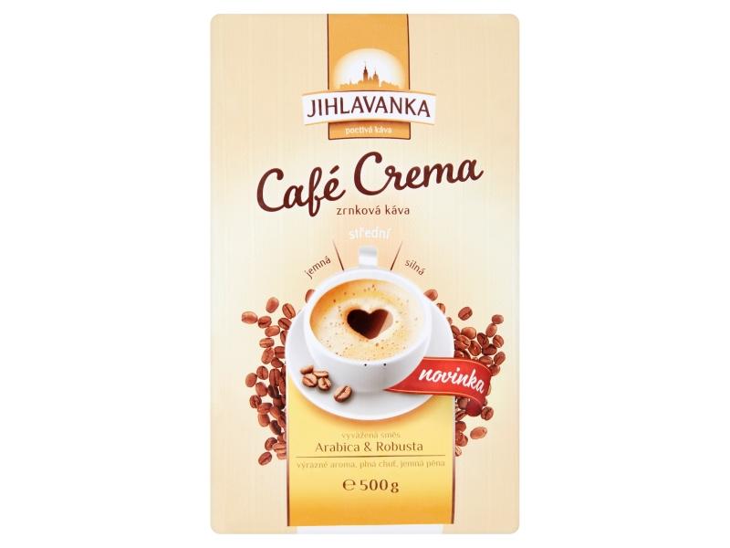 Jihlavanka Café Crema Zrnková káva 500g