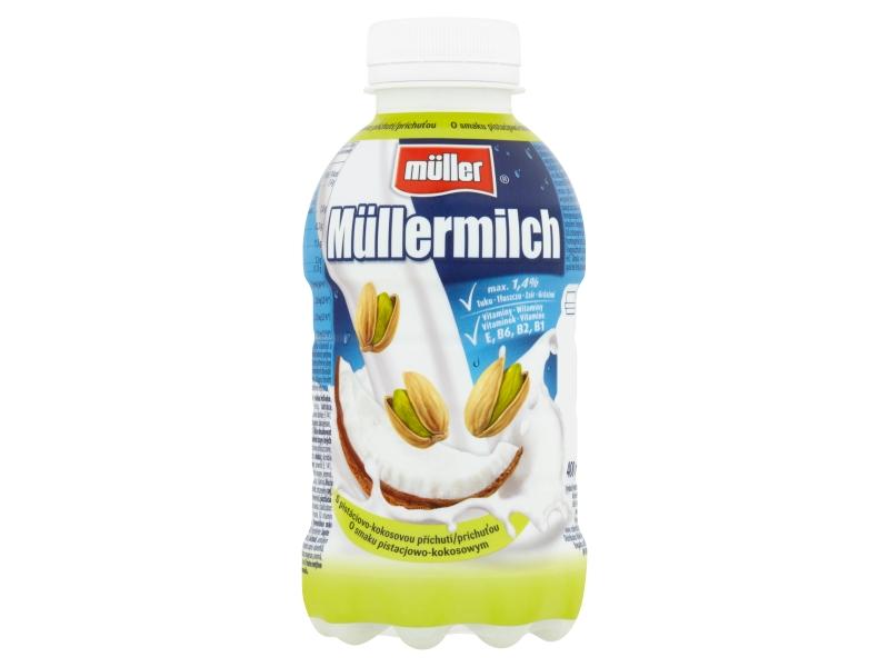 Müllermilch Mléčný nápoj s pistáciovo-kokosovou příchutí 400g
