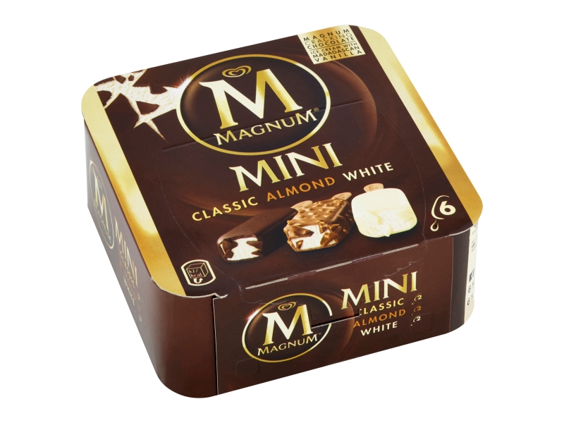Magnum Mini Classic, Almond, White, 6x55ml
