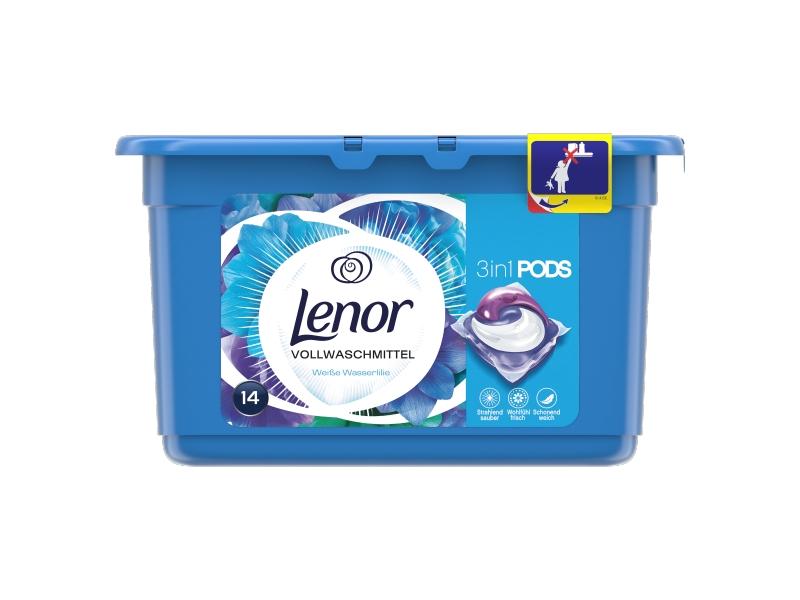 Lenor 3v1 Pearls Radiant Water Lily Kapsle Na Praní, 14 ks
